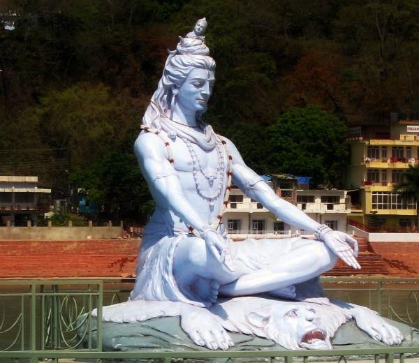 Shiva, Ganges river, Rishikesh, India. @caitylove rishikesh is the birthplace of yoga!