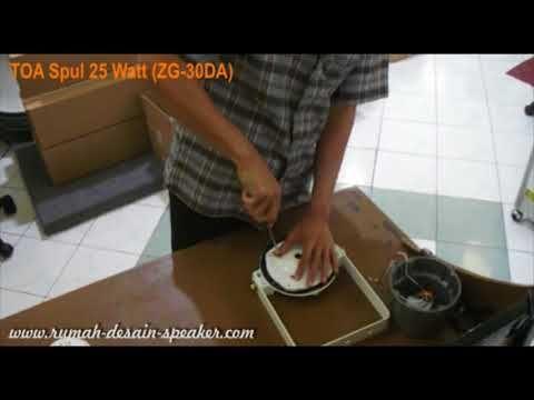 Cara Pasang Spul TOA 25 Watt ( ZG-30DA ) pada Horn Speaker ZH-5025BM
