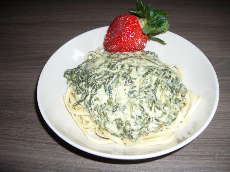 Rezept Knoblauch-Spinat-Spaghetti von thermonator31 - Rezept der Kategorie Hauptgerichte mit Gemüse