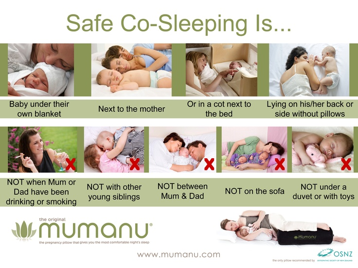 newborn bed sharing positions 2