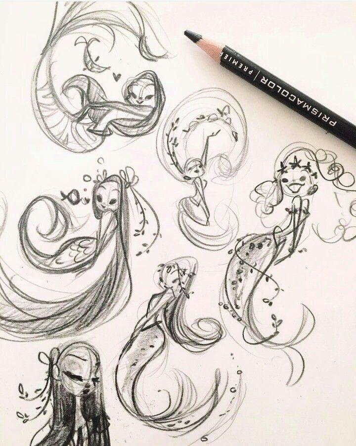 25 best ideas about mermaid sketch on pinterest