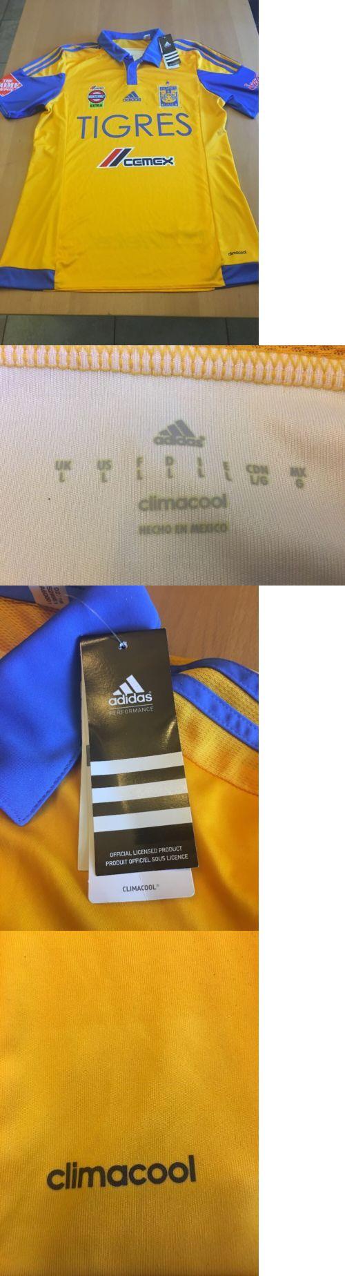 Men 123490: Tigres Uanl Adidas Jersey Original Temporada 2015-2016 Size L BUY IT NOW ONLY: $69.95