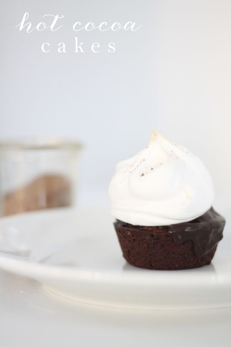 Hot Cocoa Cakes | Fudge, marshmallow and chocolate dessert based on ...