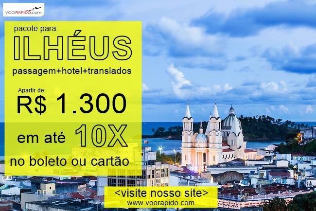Ilhéus possui um clima agradável o ano todo com mais de 801 KM de praias com águas mornas areias claras e fina boas para a prática de surfe tudo isso completando com os belos coqueirais na costa. Para os amantes da noite Ilhéus oferece muitos bares e restaurantes. Festas regionais também fazem parte do calendário turístico da cidade.  VIAJE 8 DIAS PARA ILHÉUS! Passagem hotel e traslados inclusos no pacote. Saindo de São Paulo  no sábado 11 de novembro de 2017       Confira os melhores…