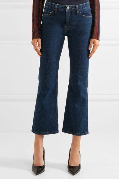 Victoria, Victoria Beckham - Mid-rise Flared Jeans - Dark denim - 30