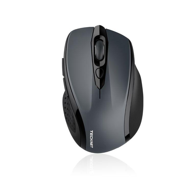 Tecknet 2400 dpi bluetooth mouse nirkabel, 24 Bulan Baterai Dengan Indikator Baterai, 2400/1500/1000 dPi untuk laptop