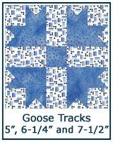 14 best Civil War quilts-Tracks (of fowl) images on Pinterest ... : goose tracks quilt pattern - Adamdwight.com