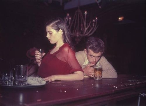 Lois Smith and James Dean on the set of East of Eden,1954