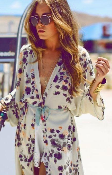 Adorable Kimono With Shades