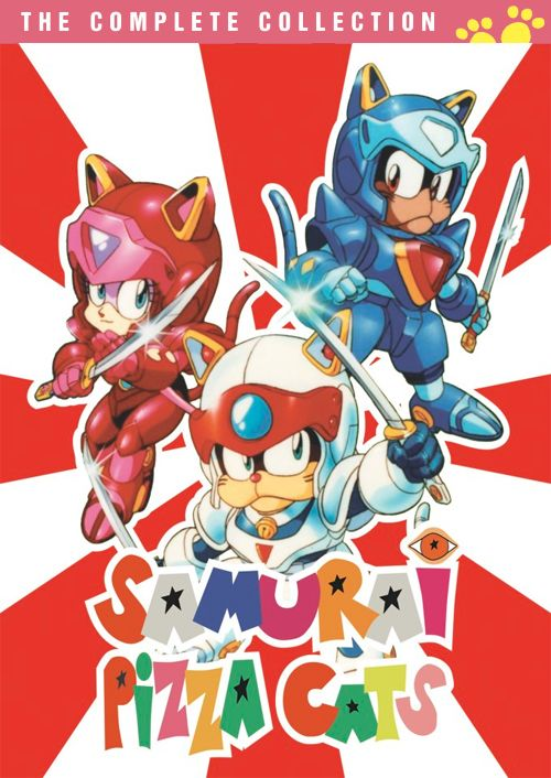 Samurai Pizza Cats - 'The Complete Collection' Cover Art for the '90s Cartoon on DVD April 30 2013!