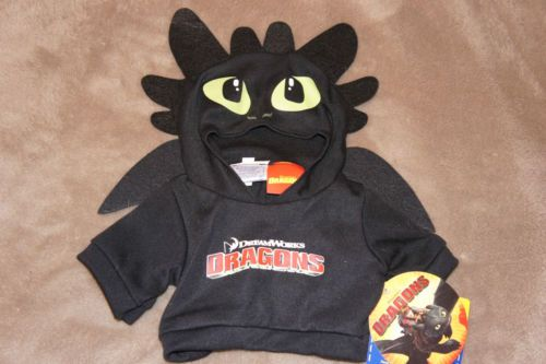 Build A Bear Toothless Dragon Hoodie Costume Shirt How to Train Your Dragon 2 | eBay