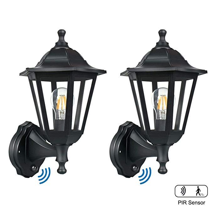 Motion Sensor Exterior Light Fixture, Imre 2 Light Outdoor Sconce With Motion Sensor