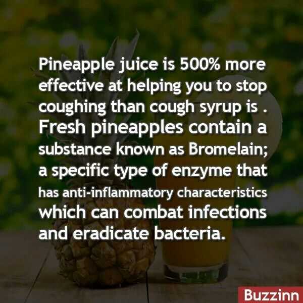 Pineapple juice for cough syrup hmmm must try it