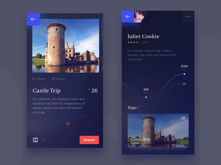 Travel app by Stano Bagin #Design Popular #Dribbble #shots