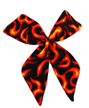 Best Neck Wrap with Orange Color. Try Orange Flame Neck Tie to Be Cool & Fresh.