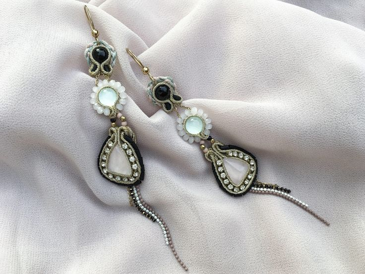 A personal favorite from my Etsy shop https://www.etsy.com/listing/529454466/long-boho-chic-earrings-with-gemstones
