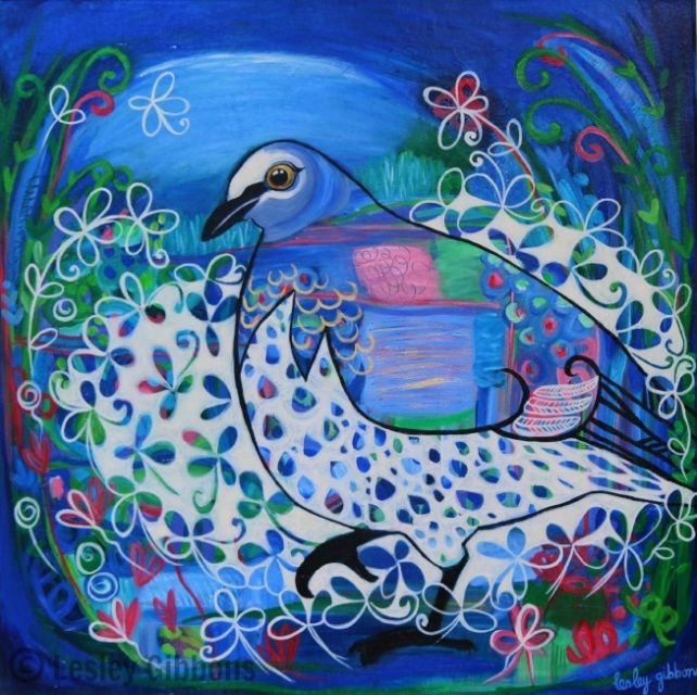 Original Bird Paintings - Contemporary Style - lesley gibbons
