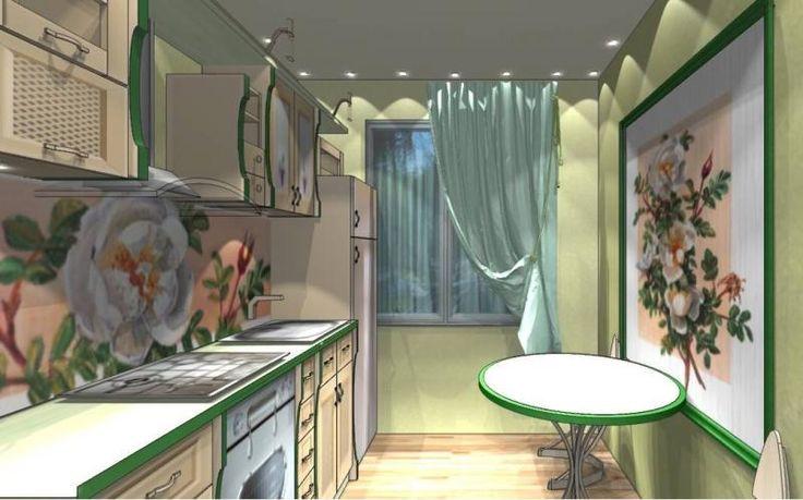 Кухня с овальным столом