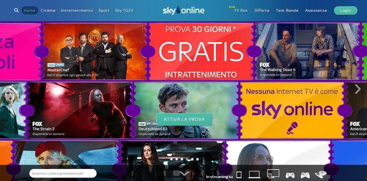 Sky Online è un servizio di tv on demand lanciato da Sky nel 2014. Il servizio è attivo solo in Italia e, ad oggi, non sono previste estensioni del prodott