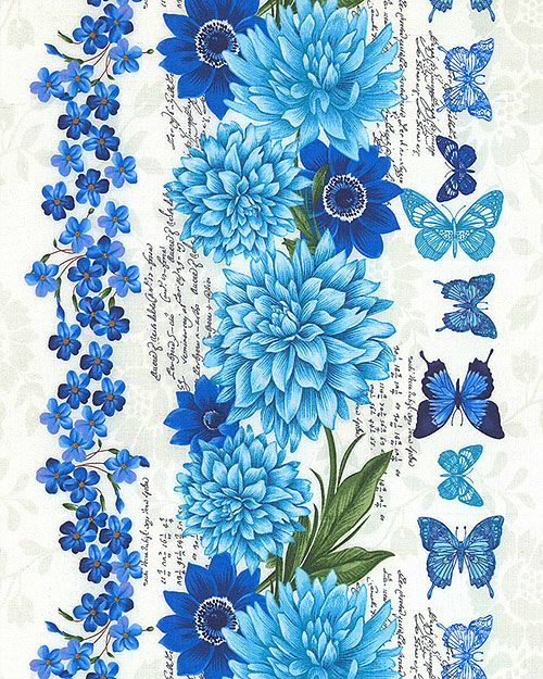 Butterfly Grotto - Blue Serenity Stripe -Quilt Fabrics from www.eQuilter.com