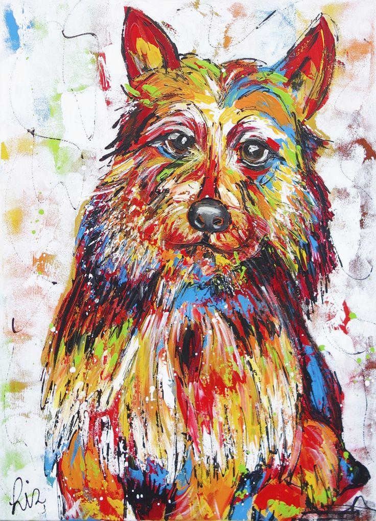 Hond - www.vrolijkschilderij.nl