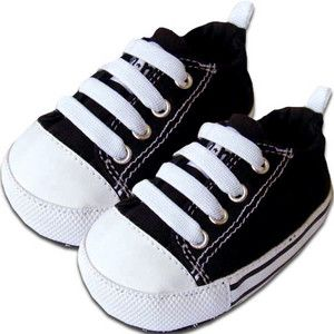 Me In Mind Charlie Black Crib Shoe