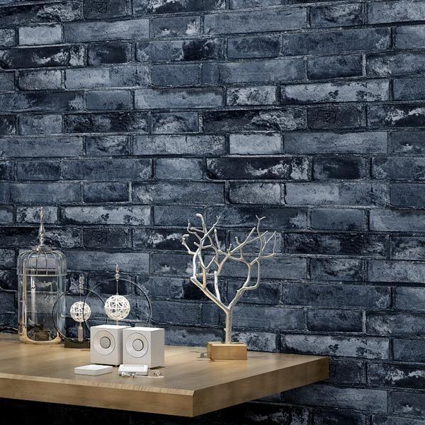 Modern White Feather Ceiling Light For Bedroom Living Room Brick Effect Wallpaper Brick Wallpaper Antique Brick