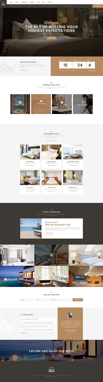 Solaz - An Elegant Hotel & Lodge PSD Template #hostel #hotel #pool • Download ➝ https://themeforest.net/item/solaz-an-elegant-hotel-lodge-psd-template/17167202?ref=pxcr