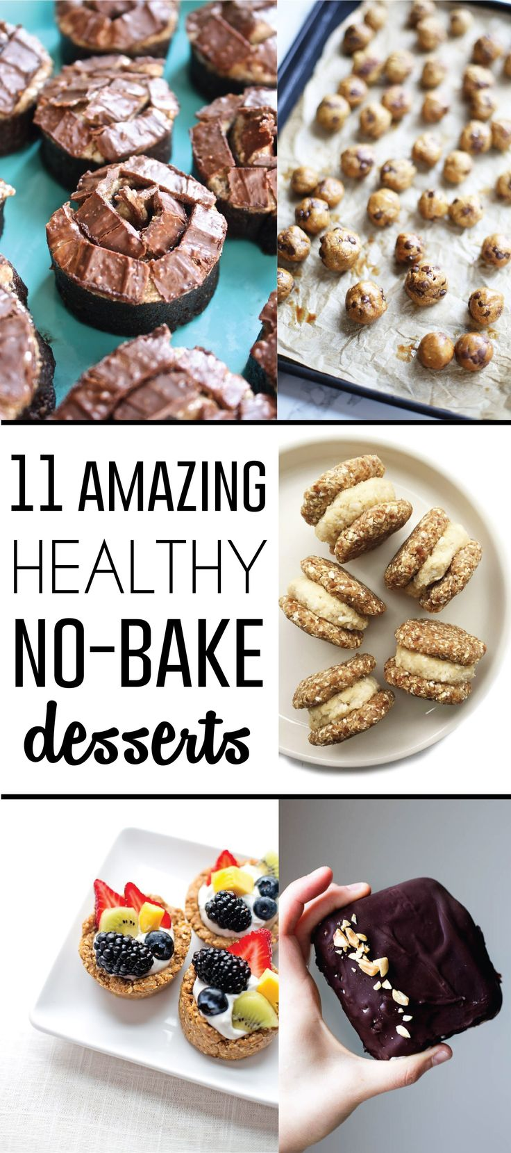 11 amazing & healthy no-bake dessert recipes!