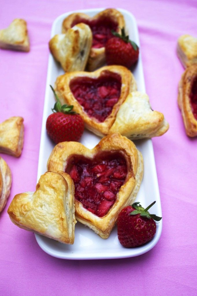Strawberry Breakfast Pastries for Valentine's