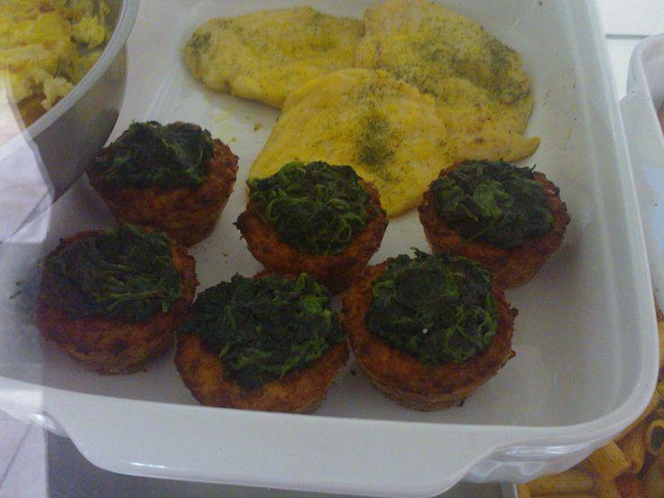 Cestini di carne agli spinaci