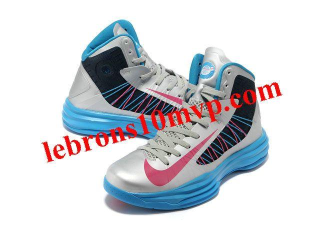 Nike Lunar Hyperdunk X 2012 James Shoes Silver/Blue/Pink