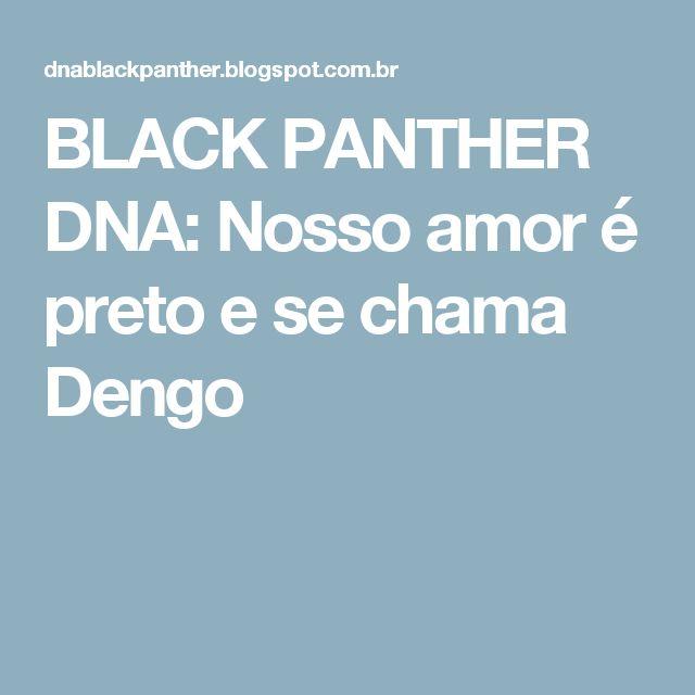 BLACK PANTHER DNA: Nosso amor é preto e se chama Dengo
