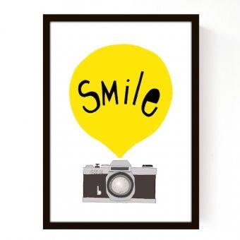 Affiche Smile Jaune format A3 les enfants du design