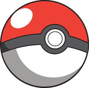 Believe it or not Pokeballs contrast. The design is red against gray against white.