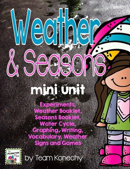 Weather and Seasons mini unit. Fun experiments and booklets.