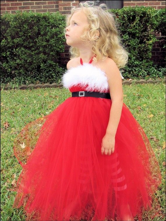 WANT!!  Christmas tutu gown toddler to girl Mrs Claus by punkydookids