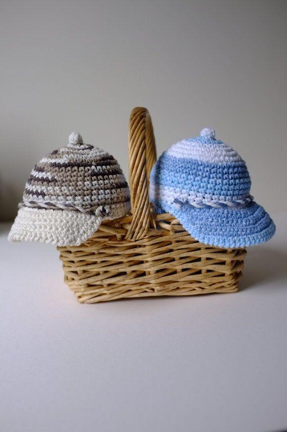 Baby Boy Hat Newsboy Hat Boys Crochet Baby Hat Baby by milazshop, $25.00