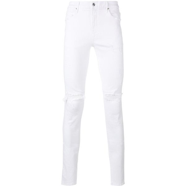 Rta distressed skinny jeans (3.393.715 IDR) ❤ liked on Polyvore featuring men's fashion, men's clothing, men's jeans, white, mens ripped jeans, mens distressed skinny jeans, mens destroyed jeans, mens white skinny jeans and mens distressed jeans