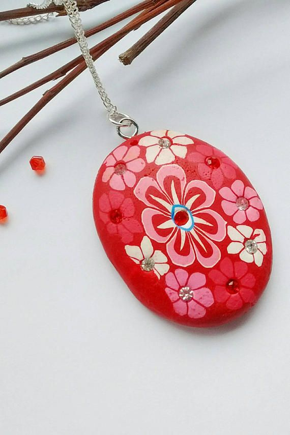 Hey, I found this really awesome Etsy listing at https://www.etsy.com/uk/listing/531381483/red-flower-necklace-red-flower-pendant