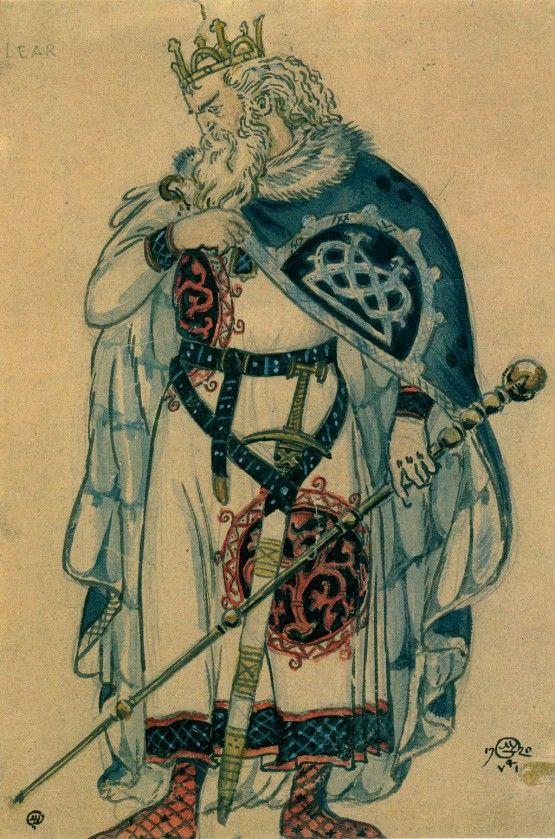 russian-style — Mstislav Dobuzhinsky - Costume designs for King...
