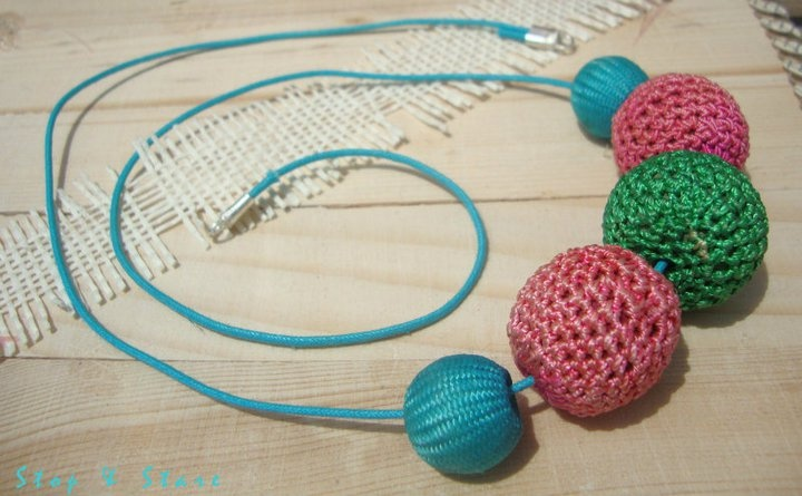 Hand crocheted bead necklace   by  Stop.and.Stare.Fashion.Jewellery (http://www.facebook.com/Stop.and.Stare.Fashion.Jewellery)