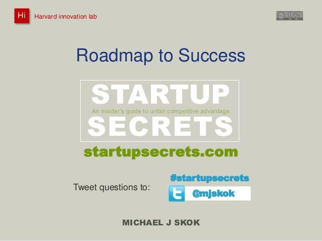 Startup Roadmap Workshop 2014
