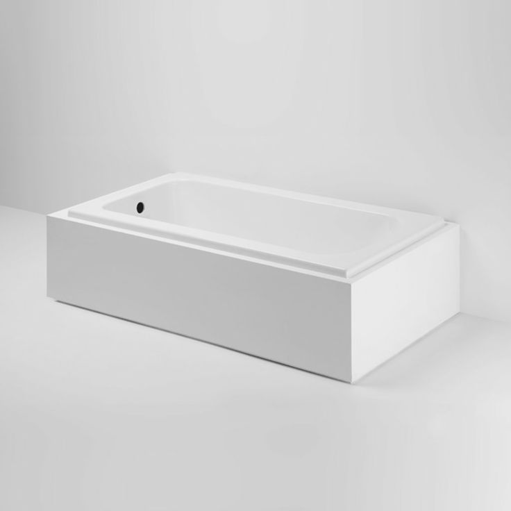 "Minna Drop In / Undermount Rectangular Cast Iron Bathtub 60"" x 30"" x 20"""