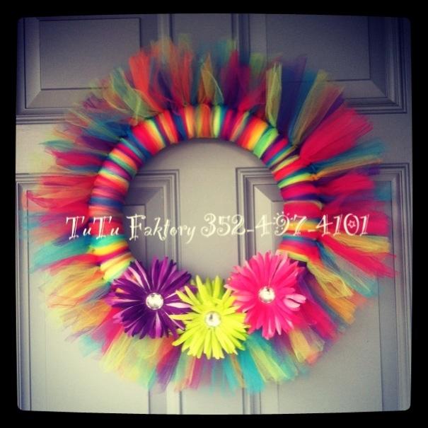 Craft wreath handmade tulle TuTu Faktory 352-497-4101