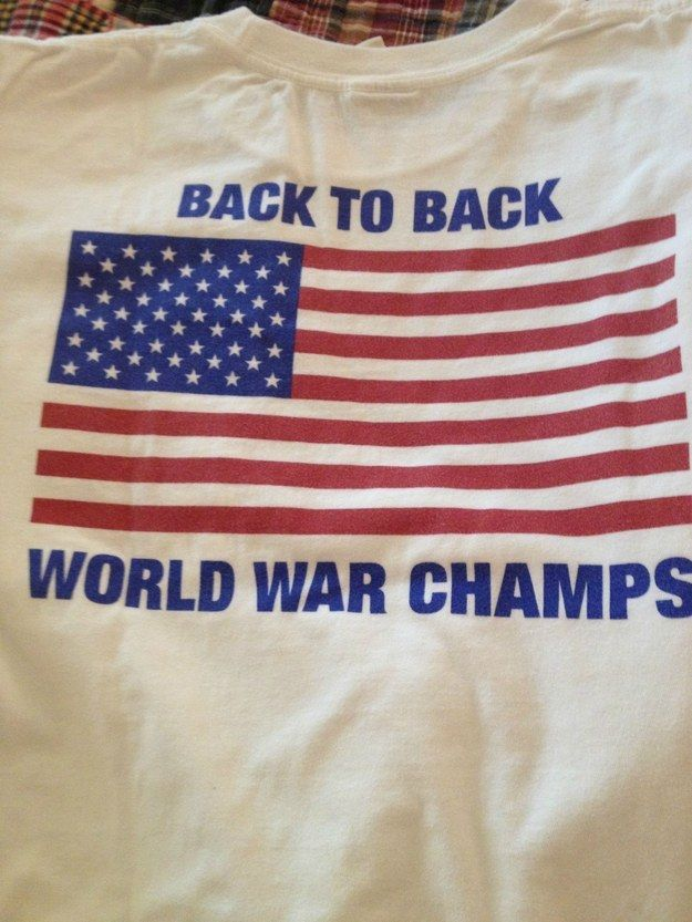This championship t-shirt:   The 26 Most American Comebacks In The History Of The World