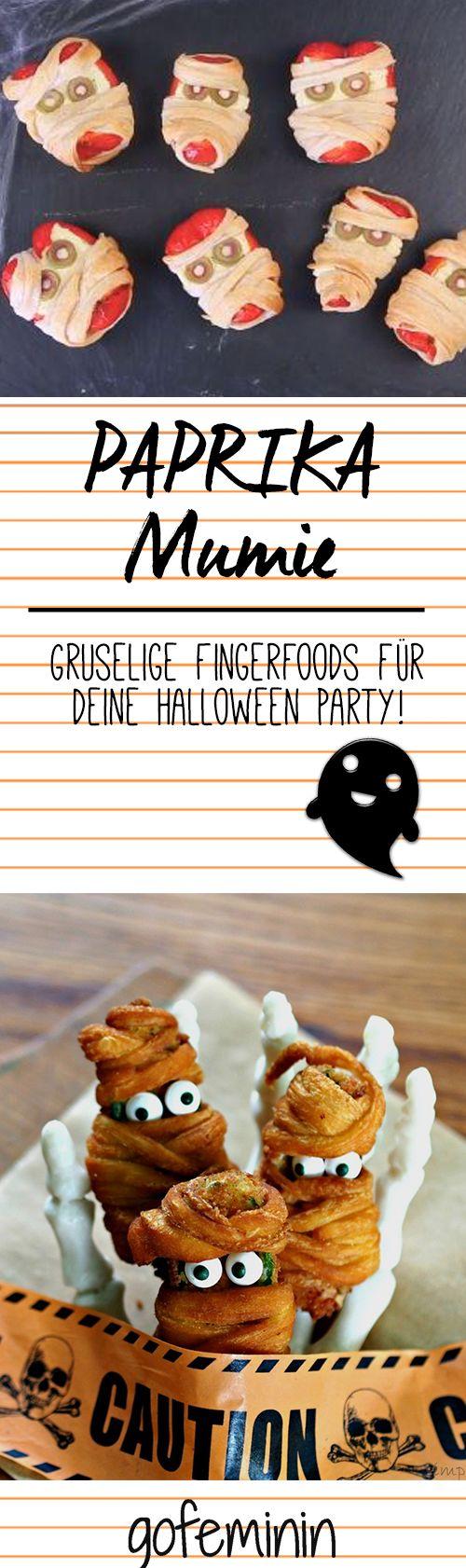 Gruselig, aber verdammt lecker: Paprika-Mumie - so wird's gemacht! Mehr auf gofeminin.de