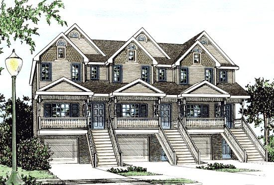 Bungalow   Country    Plan with 4023 Sq. Ft., 6 Bedrooms, 9 Bathrooms, 3 Car Garage