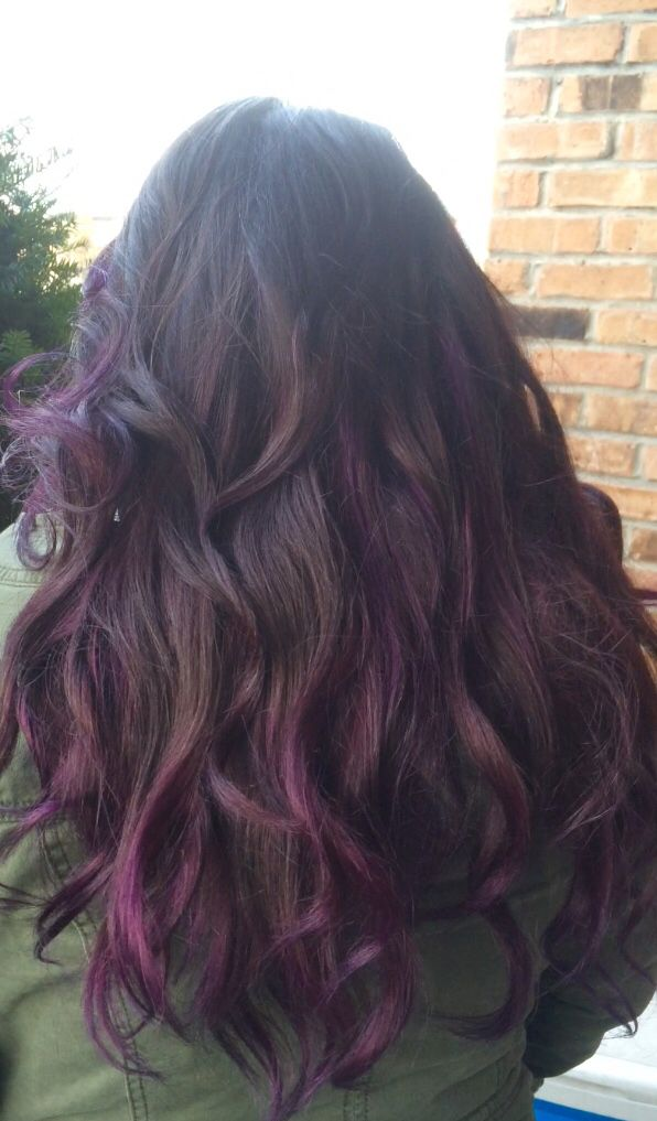 Purple Balayage ombre