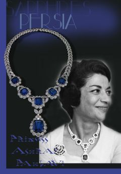 Sapphire and Diamond Necklace Collier Van Cleef and Arpels | Imperial Shah Jewels #Princess #Ashraf #Pahlavi of Iran, the twin sister of Reza Shah Pahlavi, married in 1960- The #bride wore a new important #necklace with #sapphires, a wedding present, probably of the family. The front designed as five flowerhead clusters graduated in size from the centre each set with an octagonal step-cut sapphire